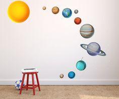 Kids Solar System Bedroom Decal//Solar by GoGoDragonBusiness