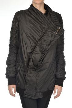Rick Owens DRKSHDW New Woman Black Exploder Bomber Jacket Coat Padded Size L Off | eBay