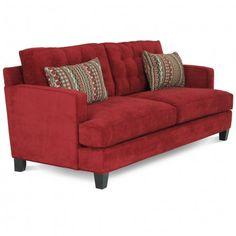 JONATHAN LOUIS BONO GYPSY SCARLET SOFA - HOUSTON LIVING ROOM COUCH   Gallery Furniture - Houston, TX