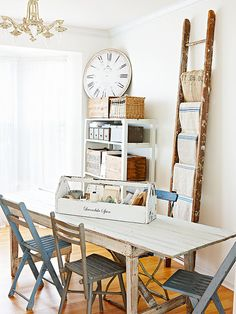 An old ladder can be a cool, vintage way to organize your linens: http://www.bhg.com/decorating/storage/projects/from-flea-market-finds-to-savvy-storage/?socsrc=bhgpin011815linenstorage&page=7