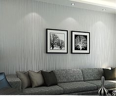 Hanmero Non-woven Classic Flocking Plain Stripe Modern Fashion Wallpaper Wall Paper Rolls 0.53m (20.86 inch)*10m (393inch)=5.3㎡(57sqfeet) for Living Room Hotel Bedroom TV Background (Silver&Grey) Hanmero http://www.amazon.co.uk/dp/B00WW2VMOC/ref=cm_sw_r_pi_dp_1tNpwb0HB0TDB