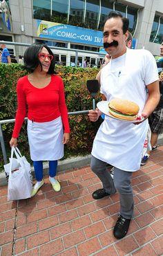 Linda and Bob Belcher from Bob's Burgers