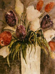 Neu in meiner Galerie bei OhMyPrints: Bunter Tulpenstrauß in Vase