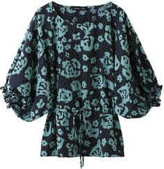 Blue flower blouse from Kai Lani USA / ShopStyle