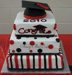 2010 Grad Cake by FancyThatCake, via Flickr