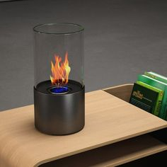 Amazon.com: Moda Flame Lit Table Top Firepit Bio Ethanol Ventless Fireplace in Black: Home & Kitchen