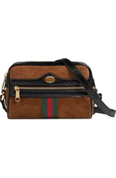 fe4d8b89e8c8 Gucci Ophidia Small Suede   Leather Crossbody Bag