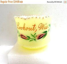 ON SALE vintage Custard Glass toothpick/mini vase by JewlsinBloom