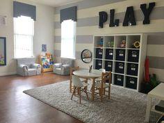 20 Fantastic Kids Playroom Design Ideas – Modern Home Ikea Regal, Ikea Kallax Regal, Playroom Design, Playroom Decor, Boys Playroom Ideas, Playroom Furniture, Curtains For Playroom, Kids Rooms, Gray Playroom