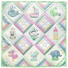 Diamonds Are Forever… Baby Fabric, Pink Fabric, Square Patterns, Baby Patterns, Something About You, Things To Think About, Applique Designs, Quilting Designs, Quilt As You Go