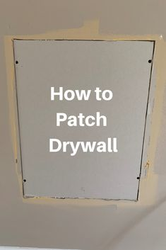 repair hole Do you need to patch drywall Dont let a drywall repair intimidate you. Let us show you how to repair a drywall hole in a few easy steps. Repair Drywall Hole, How To Patch Drywall, Fixing Drywall Holes, Patching Holes In Walls, Patching Drywall, Fix Hole In Wall, Hole In Wall Repair, Repair Ceilings, Sheet Rock Walls