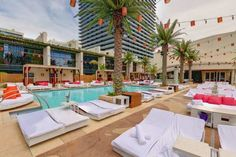 Marquee Dayclub at The Cosmopolitan spans 22,000 square-feet of the expansive multi-level Marquee Nightclub & Dayclub entertainment complex and boasts two pools, several bars and a gaming area. Some of the top djs such as Kaskade, Cedric Gervais and Porter Robinson all hold there summer residency there. #lasvegas #marquee #summer