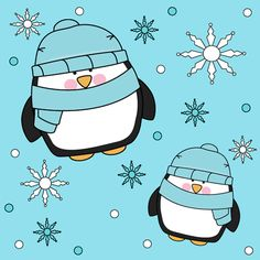 cute snowflake clipart | MyCuteGraphics > Backgrounds > Winter Backgrounds > Winter Penguin ...