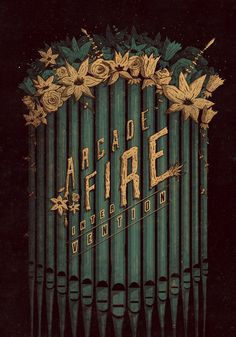 pinterest.com/fra411 #typographic - Arcade Fire - Intervention Poster