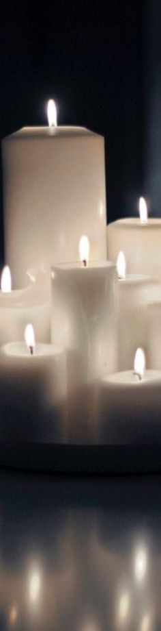 Romantic Candles, French Vanilla, White Fashion, Tea Lights, Reflection, Candles, Pictures, Tea Light Candles