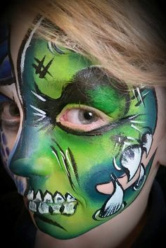 Monster Skull Teeth Face Paint Face Painting Face Painter Scary Onestroke