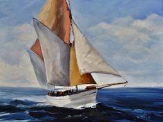 tableau marine vieux gréement signé gastaldi peinture huile sur toile