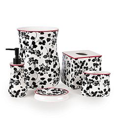 Bath accessories product page and bath on pinterest for Dillards bathroom accessories sets