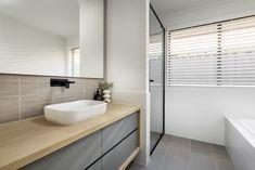 #bathroom #floatingvanity #twotonevanity #blacktaps #modernbasin