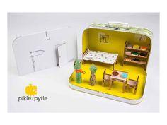 Rozložený kufříkový domeček Kufříkov od Pikle z pytle