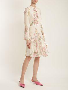 Click here to buy Giambattista Valli Garden Butterfly-print silk-georgette dress at MATCHESFASHION.COM