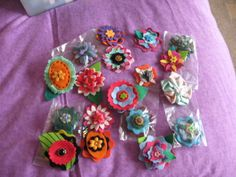 Hand made flowers (sizzix)