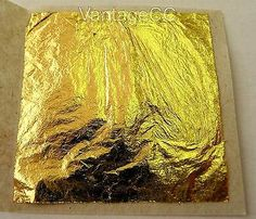 100% pure 24k gold leaf #edible 27mm #sheets cake #baking crafts - not on base!!!,  View more on the LINK: 	http://www.zeppy.io/product/gb/2/301041343908/