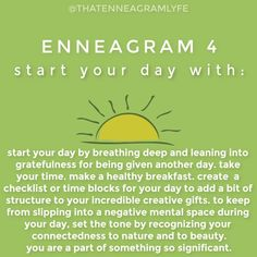 """That Enneagram Lyfe on Instagram: """"Continuing our """"start your day with"""" series for each type! Type 4's you're up.. tag your favorite 4 below AND if you are a 4, what would…"""""""