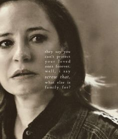 Ellen: They say't protect your loved ones forever. Well, I say screw that. What else is family for? #spn