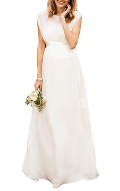 Western Cap Sleeve A Line Wedding Dress With Sleeves, Bateau Neck and Satin Sash, 2016 wedding dress styles, design.  Explore a variety of designer wedding dresses, best wedding dresses gowns, lace wedding dress at #DorisWedding.com
