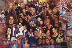 RARE 80s Rap Hip Hop Tupac TLC NWA Janet Jackson Ice Cube Dr Dre 36x24 Poster