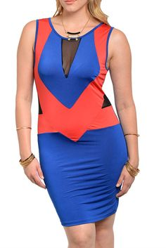 DHStyles Women's [HOT SELLER] Royal Red Plus Size Sexy Mesh Cut Out Color Block Club Dress #sexytops #clubclothes #sexydresses #fashionablesexydress #sexyshirts #sexyclothes #cocktaildresses #clubwear #cheapsexydresses #clubdresses #cheaptops #partytops #partydress #haltertops #cocktaildresses #partydresses #minidress #nightclubclothes #hotfashion #juniorsclothing #cocktaildress #glamclothing #sexytop #womensclothes #clubbingclothes #juniorsclothes #juniorclothes #trendyclothing…