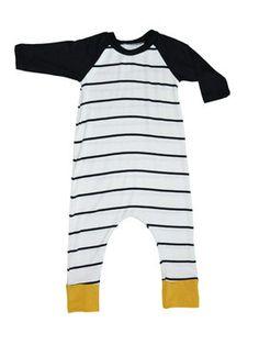 Striped Raglan Romper from Million Polkadots for Baby