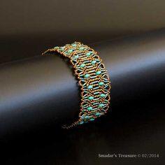 Beading Tutorial Bugles on the Border Bracelet by SmadarsTreasure