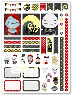 Nightmare Jack Decorating Kit / Weekly Spread by PlannerPenny                                                                                                                                                                                 Mais