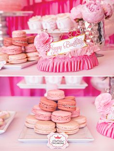 """Darling """"Pretty In Pink"""" Princess Party  Love the cake and the ruffle cake pops!"""