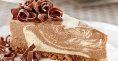 This tempting beauty marries two greats; swirls of chocolate in a luscious cheesecake base Cadbury Kitchen Just Desserts, Delicious Desserts, Dessert Recipes, Awesome Desserts, Xmas Recipes, Cold Desserts, Delicious Chocolate, Chocolate Recipes, Cadbury Recipes