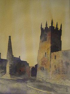 Richmond Market Place, Watercolour, Ian Scott Massie