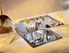 Kitchen Sinks - Armonia Stainless Steel Triple Bowl Topmount Corner Sink by Franke | KitchenSource.com