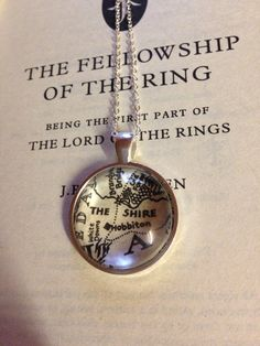 Lord of the Rings The Shire Map Necklace by EnchantingGlass
