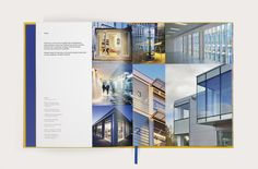 Layout from 20/ book on architecture in which different grids are used to organise content thematically.