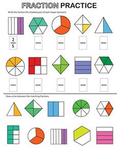 Review fractions with your second grader with this worksheet that covers identifying, coloring, and comparing fractions.