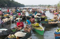 Floating Market at River side in Banjarmasin by Adolfo Perez Coronado Dont Disturb, River, Rivers