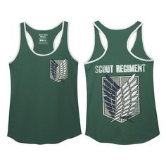 8d1ed006c361bd Crunchyroll - Store - Attack on Titan Women s Tank Top - Scout Regiment