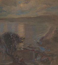"catonhottinroof:  "" Charles Hodge Mackie (1862-1920)  Evening on the bay  """