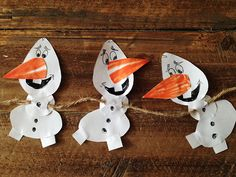 DIY Snowman Garland (Free Printable) Inspired by Olaf, Frozen, Shape craft, Olaf Coloring sheet, Frozen party, Frozen Garland