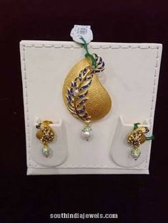 """Explore our website for even more info on """"buy diamond pendant set"""". It is an excellent spot to learn more. Antic Jewellery, Gold Jewellery, Gold Jewelry Simple, Gold Earrings Designs, Pendant Set, Gold Bangles, Pearl Diamond, Diamond Pendant, South India"""