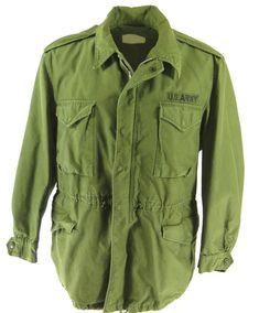 46ceda25aff Vintage 50s M-51 Military Field Jacket Large Long OG-107 US Army