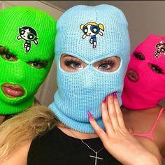 Girl Gang Aesthetic, Badass Aesthetic, Ski Mask Tattoo, Mode Au Ski, Bad Girl Wallpaper, Fille Gangsta, Thug Girl, Gangster Girl, Ski Girl