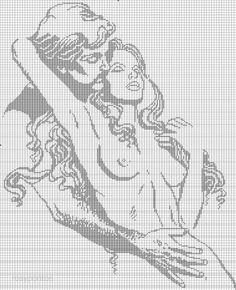Afbeeldingsresultaat voor filethaken with heart motif Cat Cross Stitches, Cross Stitch Charts, Cross Stitching, Cross Stitch Embroidery, Wedding Cross Stitch Patterns, Shadow Art, Filet Crochet, Le Point, Boris Vallejo
